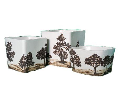 Cache-pots porcelaine